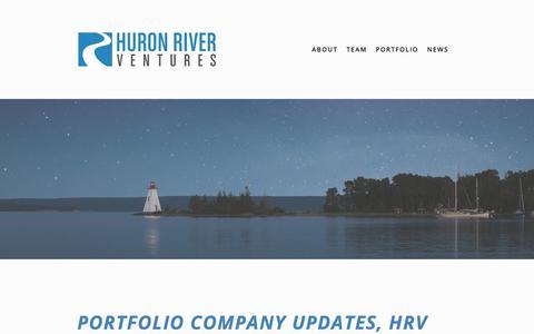 Screenshot of Press Page huronrivervc.com - News — Huron River Ventures - captured Sept. 19, 2017