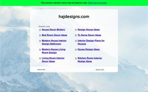Screenshot of Home Page hajdesigns.com - hajdesigns.com - captured Nov. 4, 2018