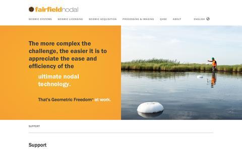 Screenshot of Support Page fairfieldnodal.com - Support — FairfieldNodal - captured Aug. 3, 2016