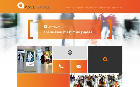Screenshot of Home Page assetspace.com - AssetSpace - captured Feb. 6, 2016