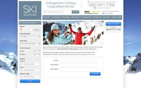 Luxury Ski Holidays | Ski Solutions