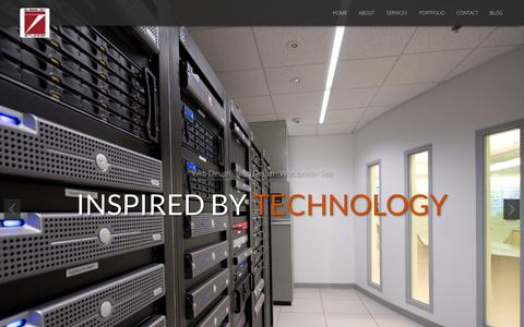 Screenshot of Home Page subsevenstudios.com - Subseven Studios | Web Design, Logo, SEO - captured Sept. 30, 2014