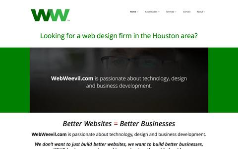 Screenshot of Home Page webweevil.com - Houston Web Design Firm in Katy, Texas - WebWeevil.com - captured Sept. 23, 2015