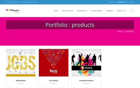 Screenshot of Products Page ringier.com.gh - products | Categories | Ringier Ghana - captured Nov. 3, 2014
