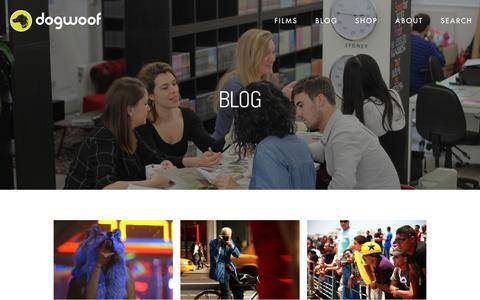 Screenshot of Blog dogwoof.com - Blog — Dogwoof - documentary distribution - captured April 17, 2016
