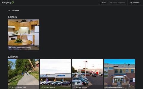 Screenshot of Locations Page lidiakphotography.com - Locations - lidiak - captured July 19, 2018