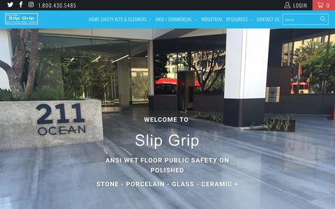 Screenshot of Home Page slipgrip.com - Slip Grip Floor Safety Products - captured Oct. 20, 2018