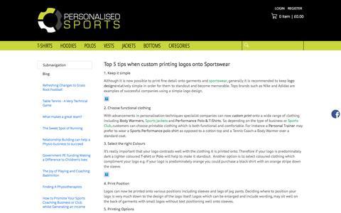 Screenshot of Blog personalisedsports.com - Blog - captured May 16, 2017
