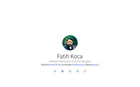 Screenshot of Home Page fattih.com - Fatih Koca - captured June 5, 2017