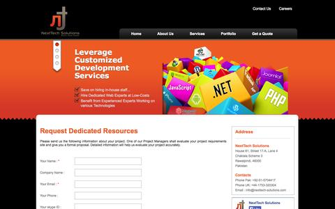 Screenshot of Signup Page nexttech-solutions.com - NextTech Solutions | Signup - captured Oct. 26, 2014
