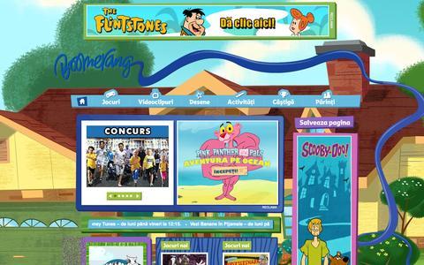 Screenshot of Home Page boomerang-tv.ro - Boomerang | Desene animate, spectacole, jocuri şi imagini video - captured Sept. 19, 2014