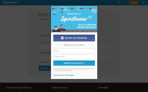 Screenshot of Login Page sportboom.com - Sportboom - Sport is Contagious - captured Sept. 17, 2014