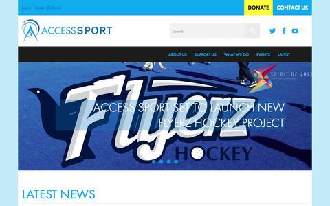 Screenshot of Press Page accesssport.org.uk - Access Sport | News | Latest News - captured July 28, 2018