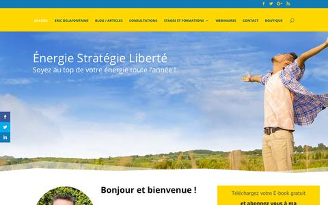 Screenshot of Home Page energie-strategie-liberte.com - Energie-strategie-liberte.com - captured Dec. 12, 2018