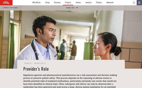 Screenshot of lilly.com - Provider's Role - captured Dec. 10, 2016