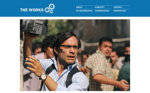 Screenshot of Home Page theworksfilmgroup.com - The Works Film Group | UK Film Distribution, International Sales and Production - captured Nov. 17, 2017