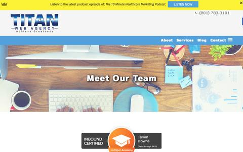 Screenshot of Team Page titanwebagency.com - Meet Our Team - Titan Web Agency - captured Jan. 28, 2016