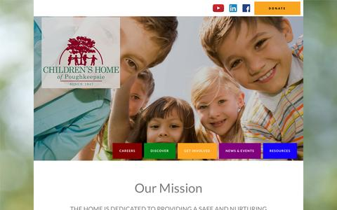 Screenshot of Home Page childrenshome.us - CHP – The Children's Home of Poughkeepsie - captured Nov. 5, 2016