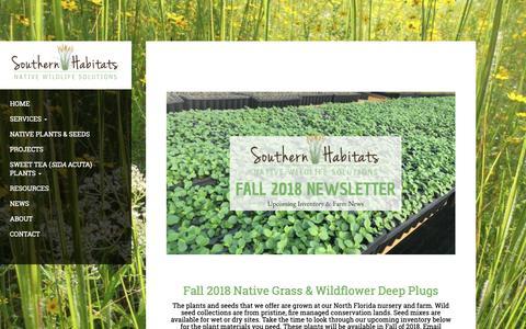 Screenshot of Press Page southernhabitats.com - Fall 2018 Inventory & News - Southern Habitats - captured Oct. 20, 2018