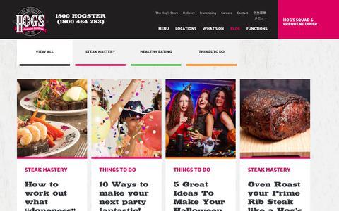 Screenshot of Blog hogsbreath.com.au - Blog | Hog's Breath Cafe - captured June 24, 2017