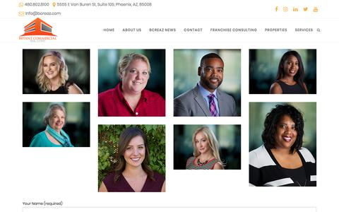 Screenshot of Team Page bcreaz.com - Team - Bryant Commercial Real Estate in Arizona - captured Oct. 11, 2017
