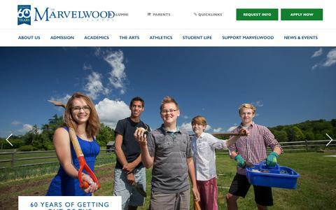 Screenshot of Home Page marvelwood.org - Home - Marvelwood School - captured Nov. 27, 2016