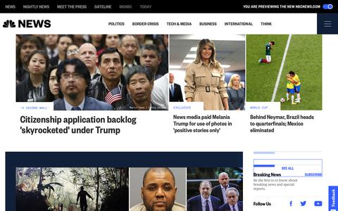 NBC News - Breaking News & Top Stories - Latest World, US & Local News | NBC News