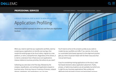 Screenshot of Services Page dellemc.com - Moving Applications to the Cloud | Dell EMC US - captured Feb. 5, 2018