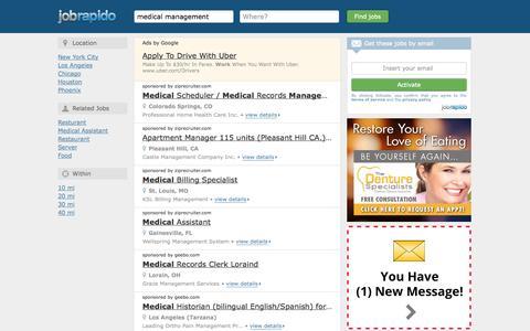 Screenshot of Landing Page jobrapido.com - Medical Management Jobs - Apply Today! - captured Oct. 27, 2014