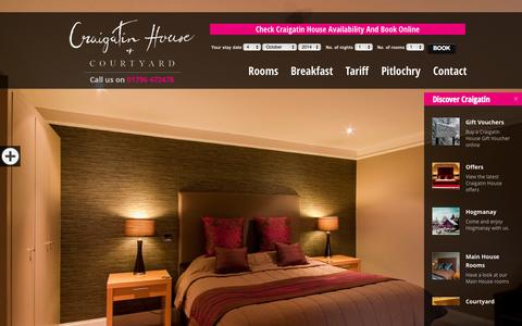 Screenshot of Home Page craigatinhouse.co.uk - Accommodation Pitlochry | Bed and Breakfast Pitlochry - captured Oct. 3, 2014