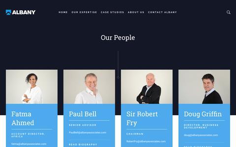 Screenshot of Team Page albanyassociates.com - Our People - Albany Associates - captured Oct. 3, 2018