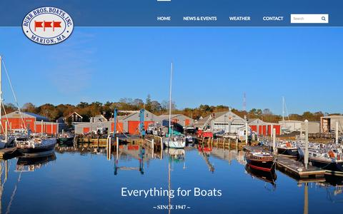 Screenshot of Home Page burrbros.com - Home - Burr Brothers Boats, Inc. - captured June 23, 2016