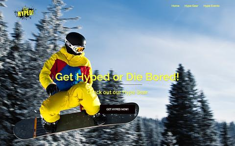 Screenshot of Home Page get-hyped.com - Get Hyped – Get Hyped or Die Bored - captured Nov. 6, 2016