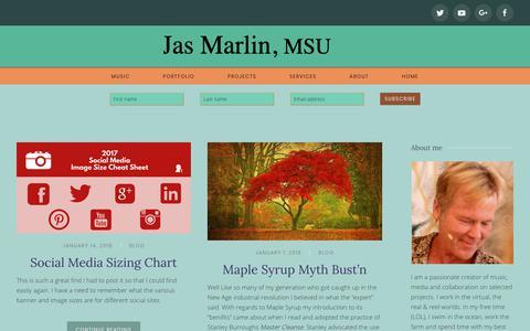 Screenshot of Blog jasmarlin.com - Blog | Jas Marlin, msu - captured Oct. 2, 2018