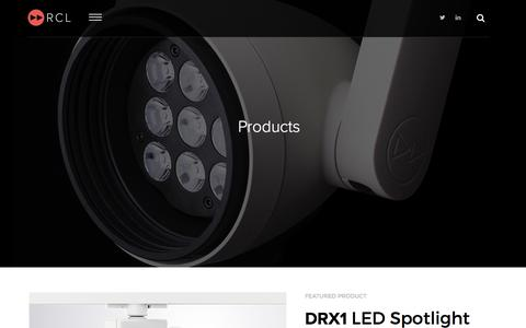 Screenshot of Products Page rclighting.com - Products - captured Nov. 30, 2016