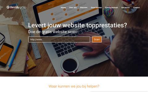Screenshot of Home Page best4u.nl - Webdesign en Internet Marketing Bureau - Best4u Group BV - captured Feb. 7, 2016
