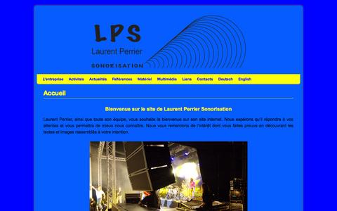 Screenshot of Home Page lpsono.ch - LPS - captured Oct. 1, 2014