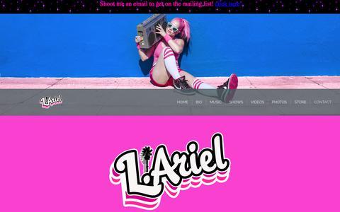 Screenshot of Contact Page larielmusic.com - L.Ariel - Contact - captured July 7, 2017