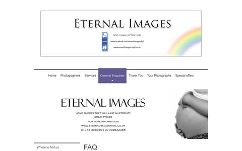 Screenshot of FAQ Page eternal-images-rhyl.co.uk - Frequently asked questions and answers at Eternal Images - captured Aug. 26, 2017