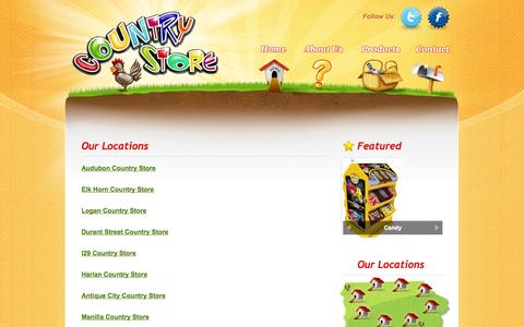 Screenshot of Locations Page ksoil.com - Country Store | Locations - captured Oct. 26, 2014