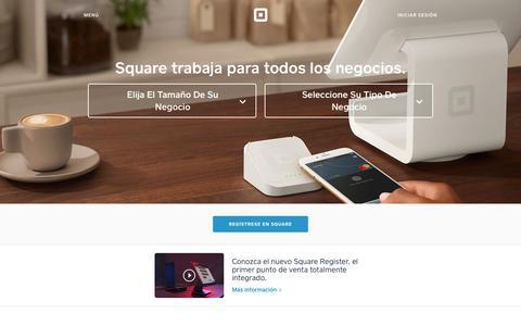 Screenshot of squareup.com - Procesamiento de tarjetas de crédito - Acepte tarjetas de crédito desde cualquier lugar | Square - captured Jan. 13, 2018