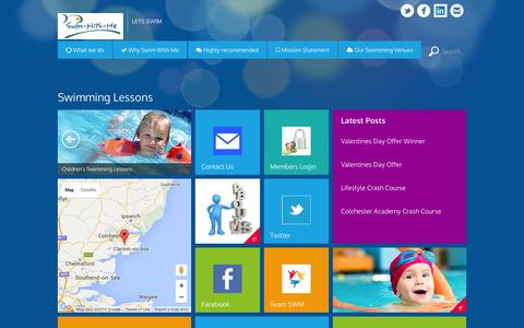 Screenshot of Home Page swim-with-me.co.uk - Swimming Lessons   Swim With Me - captured Feb. 28, 2016