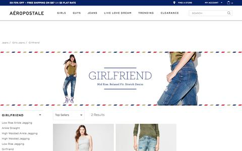 Girlfriend Jeans for Teen Girls &  Women | Aeropostale