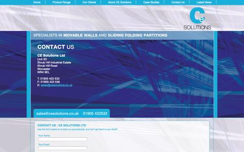 Screenshot of Contact Page cesolutions.co.uk - Contact Us : CE Solutions Ltd - captured Oct. 1, 2014