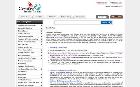 Screenshot of Terms Page creativehandnepal.com - Creative Hand Nepal :: Nepal Trade Fair  an Online Wholesale Handicraft Marketplace ! - captured Oct. 30, 2014