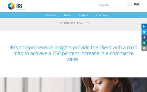 Screenshot of Case Studies Page iriworldwide.com - E-Commerce Insights- IRI - captured Jan. 6, 2020