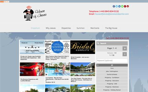 Screenshot of Home Page Privacy Page houseofjeeves.com - House of Jeeves - Emporium - captured Sept. 23, 2014