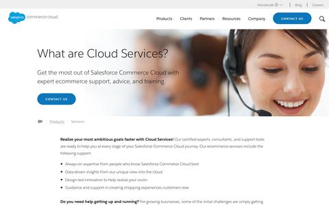 Screenshot of Services Page demandware.com - eCommerce Services, Support & Training | Demandware - captured Aug. 29, 2017