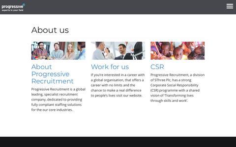 About us - Progressive Recruitment