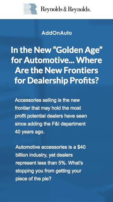 Where are the New Frontiers for Dealership Profits? Whitepaper